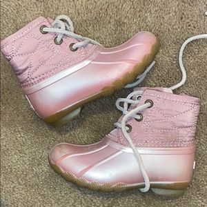 Toddler girls Sperry boots